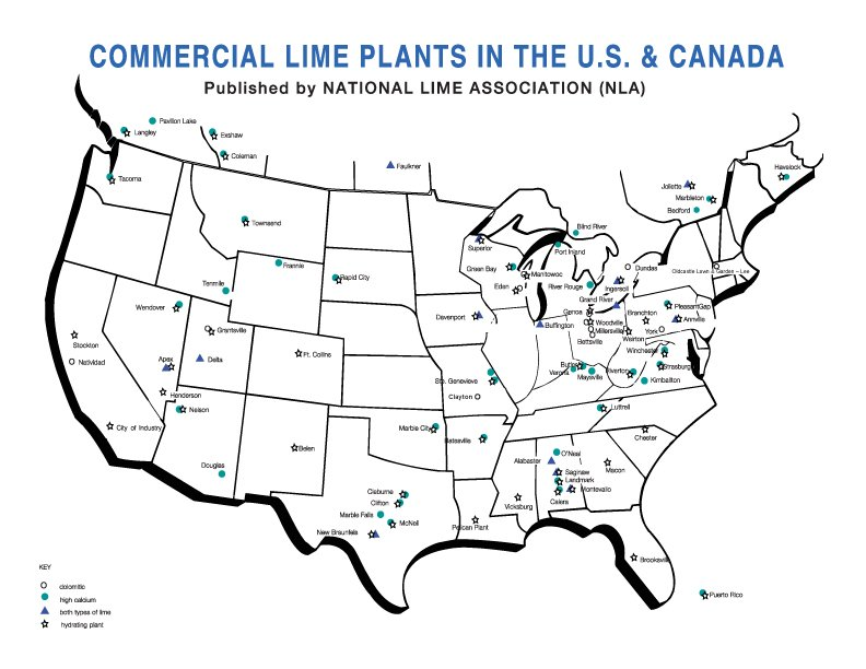 Interactive Us And Canada Map U.S. and Canadian Lime Companies Interactive Map